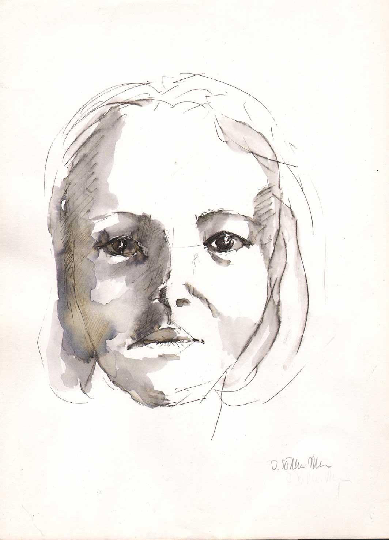 Isolde schmitz becker zeichnungen und aquarelle for Fachwerkhaus skizze