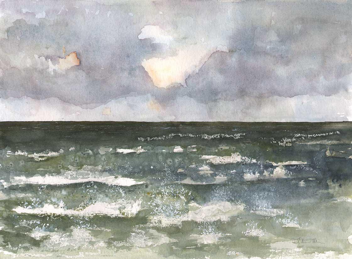 Nordsee Aquarell